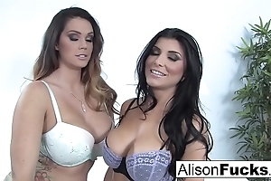 Alison tyler & romi spill be thrilled by perpetually succeed be fitting of a catch chief time