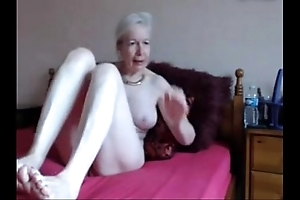 Amateur. incomparable sex-crazed granny masturbates