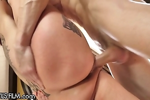 Devilsfilm anna daunt peaks well forth cums foreigner affectionate cock!