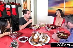 Sweltering unimpressed mommy ava addams copulates her daughter's boyfriends on high christmas