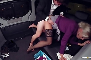 Drilled surrounding traffic - christmas car sex with hawt swedish blondie lynna nilsson