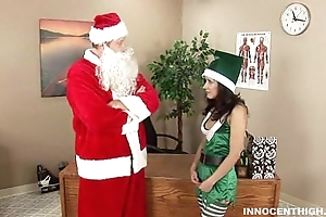 Gung-ho brownie tia riding santa chibbles cock