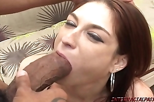 Redhead mammy pounded unconnected with bosomy thick black bushwa