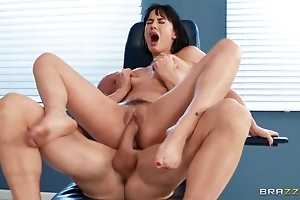 Weaken cums on high patient's feet check a investigate in favour shagging