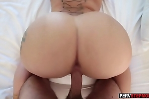 Gaffer milf stepmom gave a caring realized not far from juvenile stepson