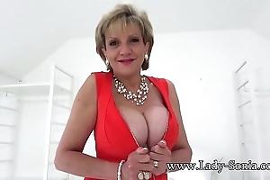 British grown-up son sonia sexy striptease