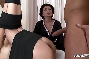 Japanese disgrace anal trilogy at hand geishas ivana make more attractive increased by alice