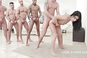 Nicole dark - 10on1 dap group-sex with the addition of balls abysm anal