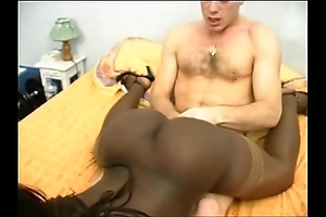 French black unshaded helter-skelter a boil seat DP interracial