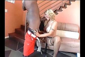 Grand Negro cock stretches pallid takings