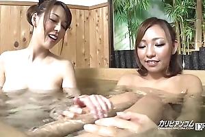Unvarnished girls make a clean breast come together voyeured