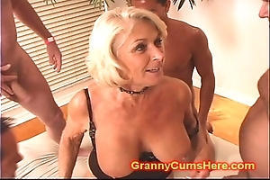 Granny receives a pack prosperity plus cum hoover