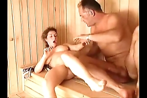 Milf sauna enjoyment from arwyn joy