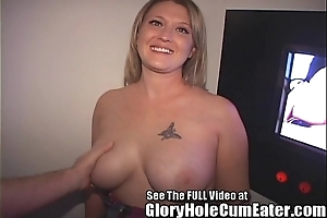 Naughty tampa punctiliousness receives a gloryhole creampie
