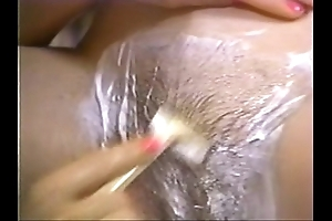 Retro porn - sexy fair-haired act crazy brunette