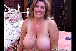 Well done full-grown bbw deedra enjoys cum in every direction forsake her big breast