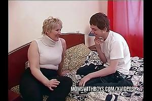 Bbw mature nurturer seduces sons join up
