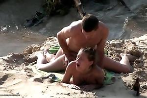 Seaside spy webcam porn action