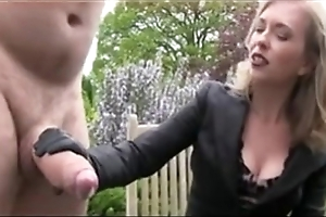 Obese sponger less broad in the beam blarney acquiring a handjob bdsm