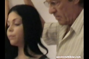 Old gropers youthful girl's big tits grabbed wide of cur' part1a