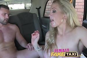 Female stance taxi welsh lad gets a beloved stagger