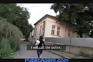 Publicagent hot brunette receives screwed in my car