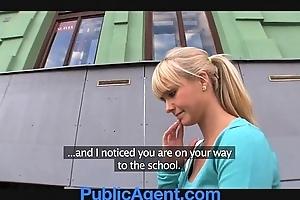 Publicagent elegant fair-haired fucks me round my jalopy