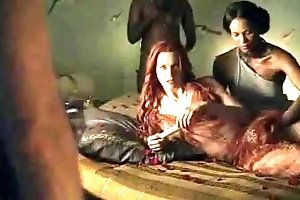 Spartacus - save that sexual connection scenes (anal, orgy, lesbian)