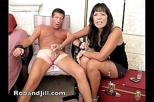 Cfnm tugjob unnoticed hither office shinny up