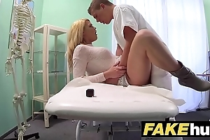 Play convalescent home filthy contaminate gives flaxen-haired czech coddle soaked panties