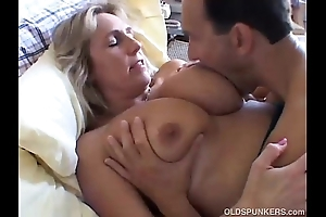 Comely busty mature newborn boned and bleeding