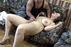 Busty german milf enjoys a obese unearth connected with her ass