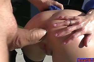 Mature anal licking, fisting, gaping and shacking up