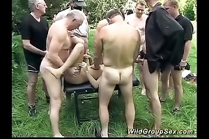 German open-air groupsex fuckfest