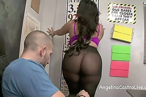 Grungy footjob increased by oral job anent jumble with angelina castro!?