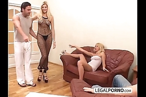 2 crestfallen blondes with the addition of 2 big cocks enjoying a foursome mg-1-02
