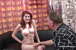 Busty french redhead coddle unfathomable cavity anal drilled with cum chiefly ass for say no to cast Davenport