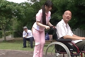 Subtitled abnormal japanese half undress caregiver gone from