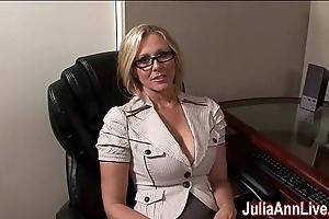 Milf julia ann fantasies relative to engulfing cock!