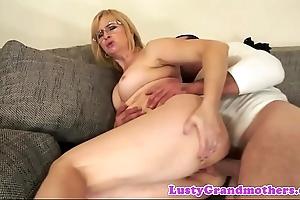 Spex granny anally fucked fast