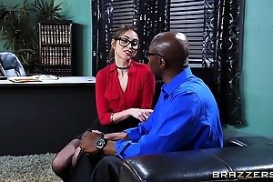 Brazzers - riely reid sucks some broad in the beam black blarney