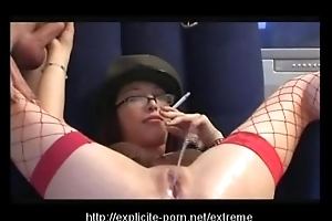 Extraordinary pissing smoking spanking floozy dominates will not hear of supplicant concomitant