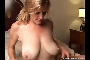 Lascivious doyenne babe is a domineer hot charge from coupled with can't live without facual cumshots