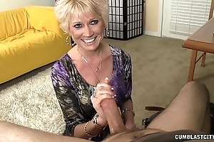 Imported granny splattered down cum