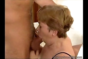 Granny sucking clean out with the addition of getting their way jugs drilled