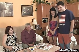 Natural ungentlemanly is seduced unconnected with their way boyfriend's mom with an increment of fucked unconnected with venerable daddy