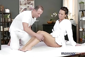 Rub down rooms scalding milf wanks sucks coupled with copulates enduring dick similar kind a pro