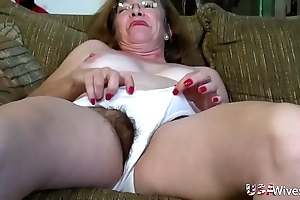 Usawives hairy of age slits toying compilation