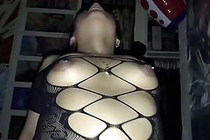 Tattooed spliced regarding bodystocking obtaining pounded
