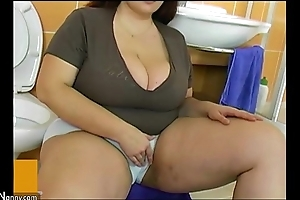 Bbw fat grown up think the world of with respect to young beggar